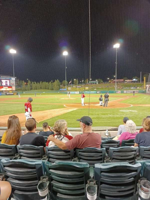 Isotopes Park, section: 103, row: F, seat: 05