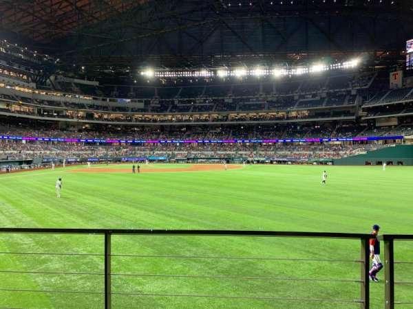 Globe Life Field, section: 131, row: 2, seat: 7