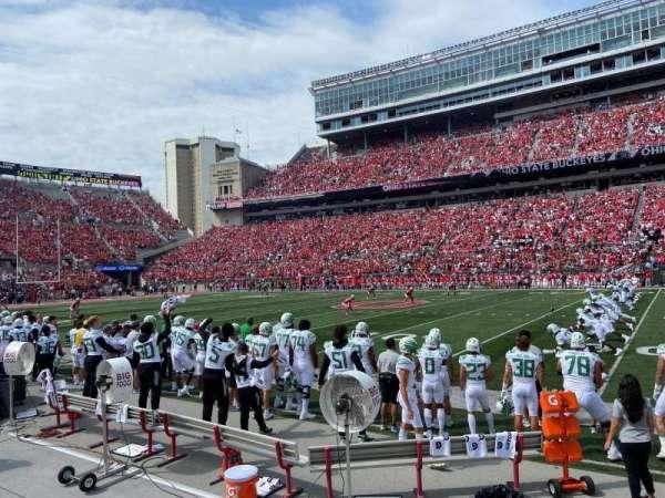 Ohio Stadium, section: 18AA, row: 1, seat: 23