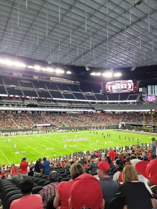 Allegiant Stadium, section: C115, row: 32, seat: 14