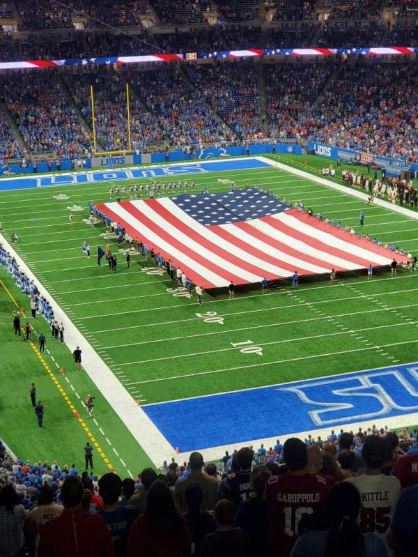 Ford Field, section: 315, row: 21, seat: 13