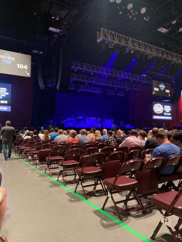 Hard Rock Live at Etess Arena, section: 105, row: Q, seat: 1