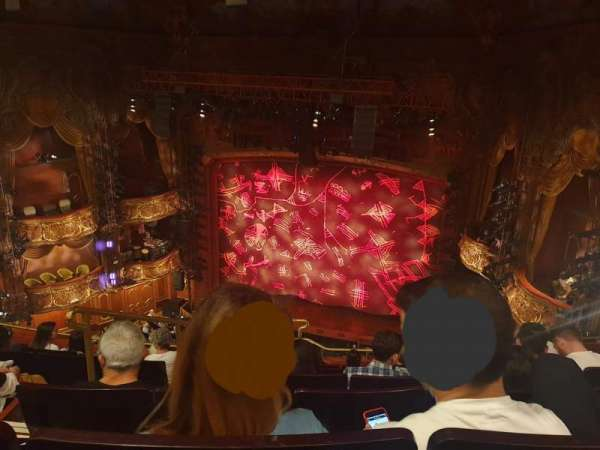 Lyceum Theatre (West End), section: Grand circle, row: F, seat: 14