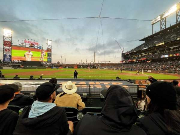 Oracle Park, section: FC122, row: D, seat: 8