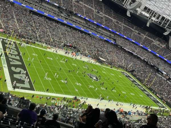 Allegiant Stadium, section: 444, row: 8, seat: 4