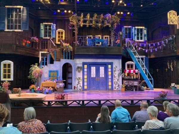 Englestad Shakespeare Theater, section: Center, row: E, seat: 12