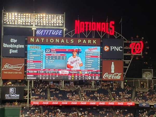 Nationals Park, section: 309, row: F, seat: 25