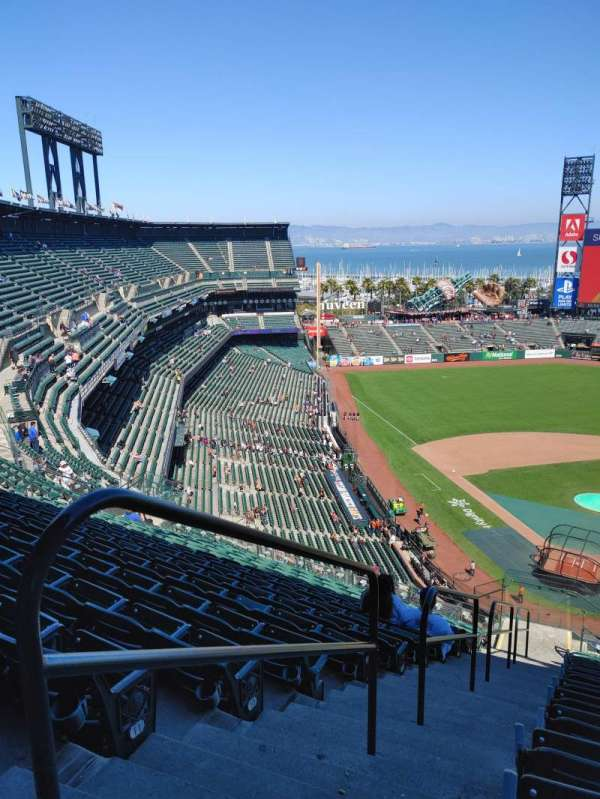 Oracle Park, section: VR314, row: 13, seat: 29