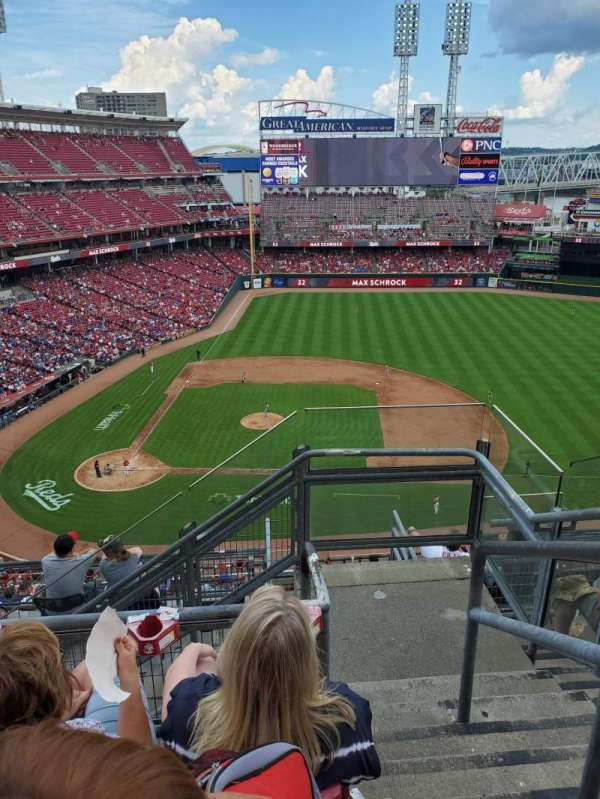 Great American Ball Park, section: 529, row: E, seat: 1