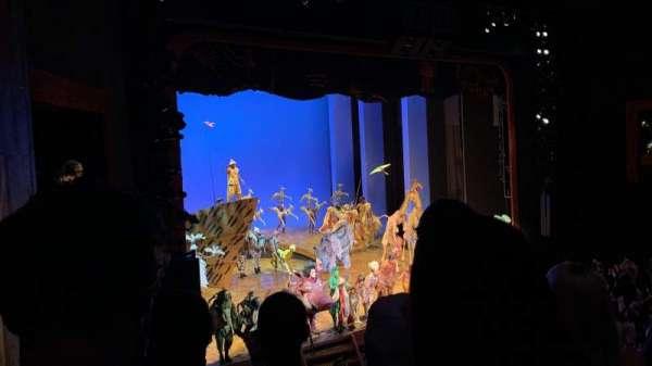 Minskoff Theatre, section: Mezzanine, row: DD, seat: 11