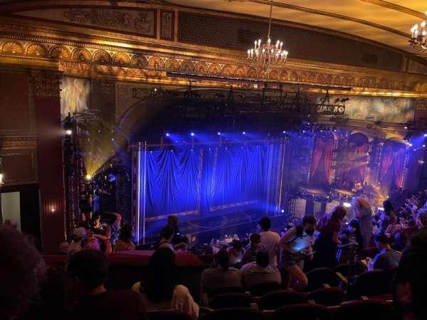 Brooks Atkinson Theatre, section: Rear Mezzanine L, row: L, seat: 13