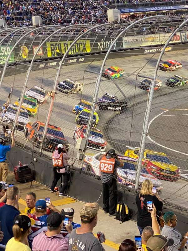 Bristol Motor Speedway, section: Yarborough F, row: 7, seat: 1