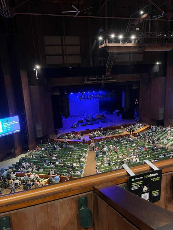 The Mann, section: Balcony Box 7, seat: 8