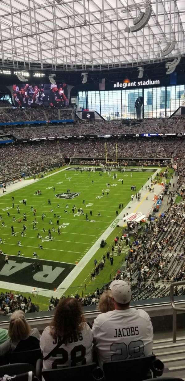 Allegiant Stadium, section: 321, row: 5, seat: 2