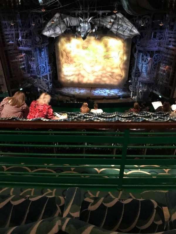 Apollo Victoria Theatre, section: Dress circle, row: H, seat: 20