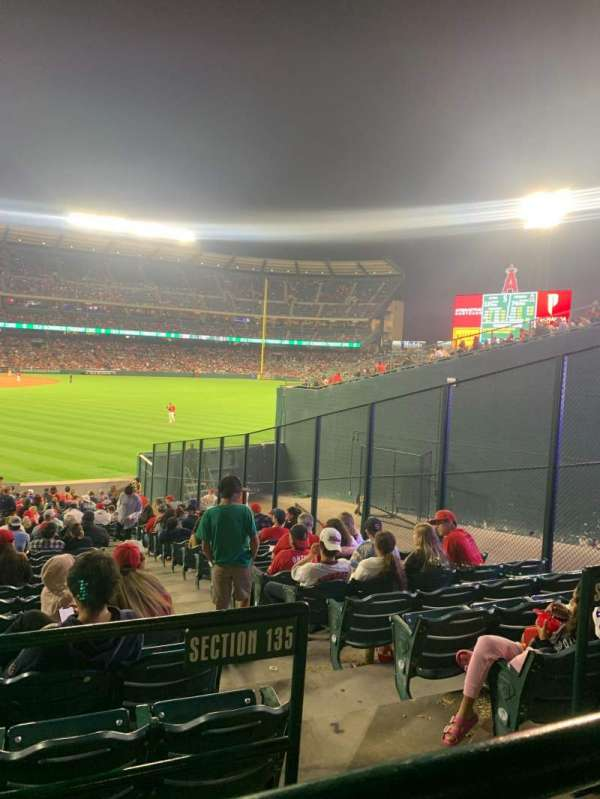 Angel Stadium, section: 233, row: A, seat: 8