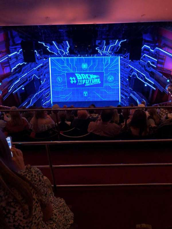 Adelphi Theatre, section: Upper circle, row: L, seat: 20