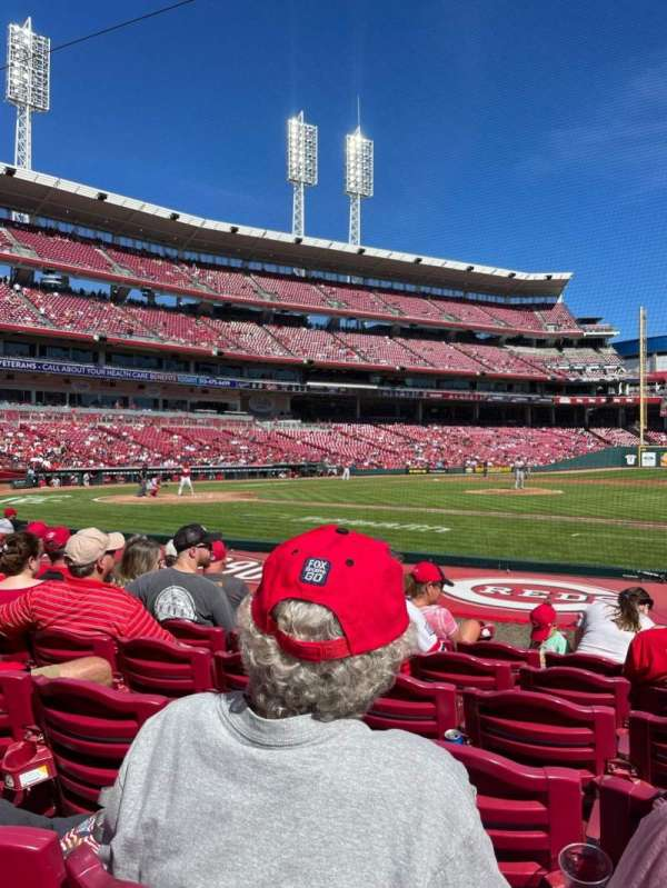 Great American Ball Park, section: 130, row: K, seat: 1