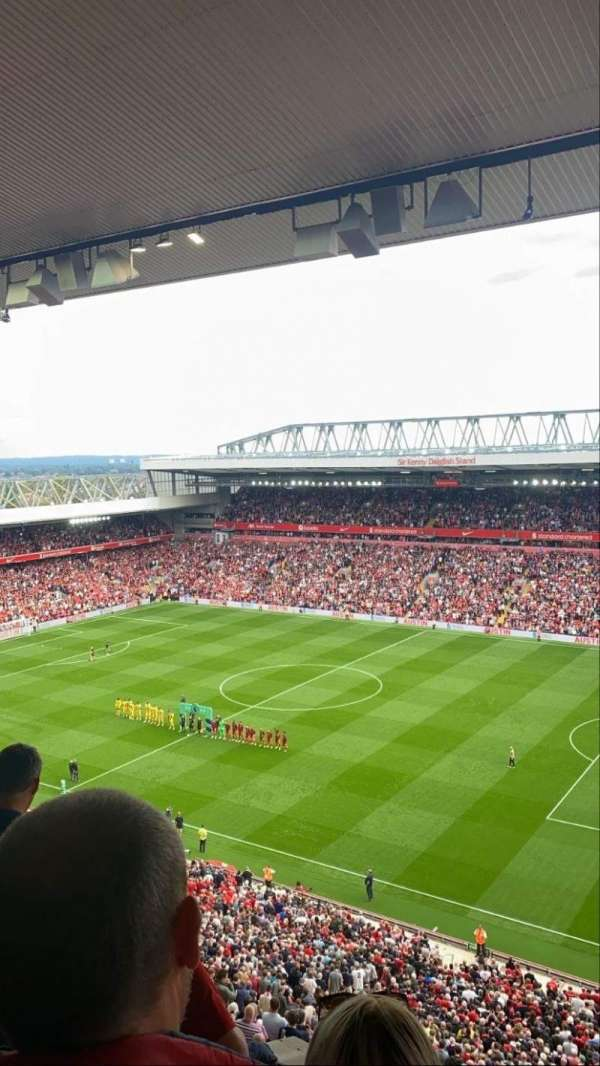 Anfield, section: U9, row: 62, seat: 239