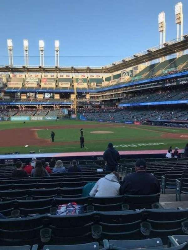 Progressive Field, section: 163, row: X, seat: 3