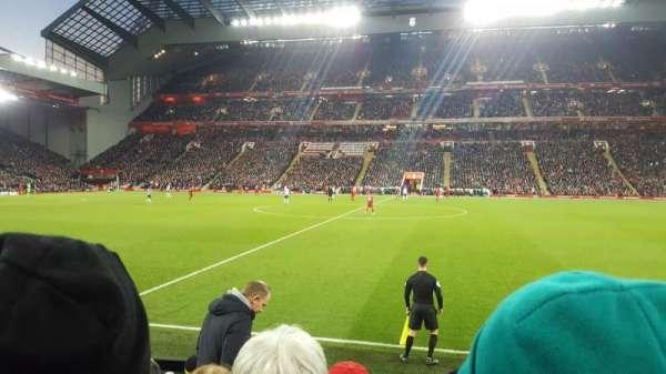 Anfield, section: KJ, row: 11