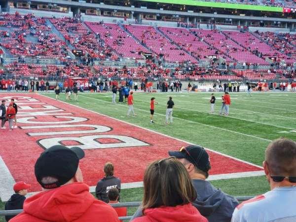 Ohio Stadium, section: 28AA, row: 7, seat: 18