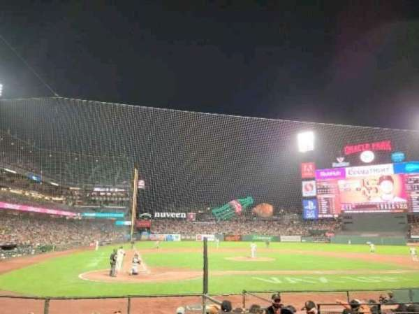 Oracle Park, section: 112, row: G, seat: 1