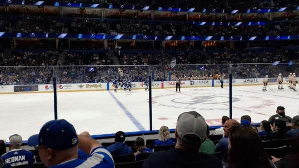 Amalie Arena, section: 117, row: H, seat: 7