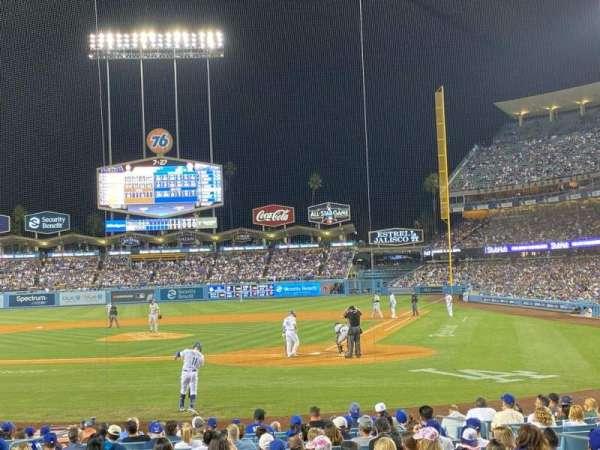 Dodger Stadium, section: 7FD, row: H, seat: 1
