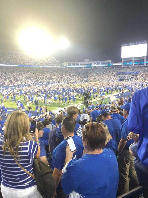 Kroger Field, section: 21, row: 20, seat: 9