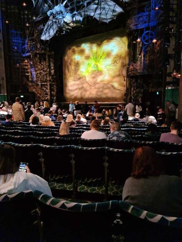 Apollo Victoria Theatre, section: Stalls, row: S, seat: 2