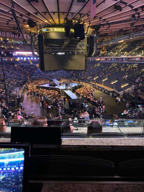 Madison Square Garden, section: Club 61, row: 3, seat: 3