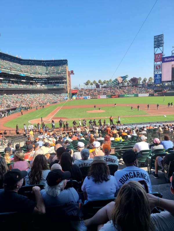 Oracle Park, section: 110, row: 30, seat: 2 and 3