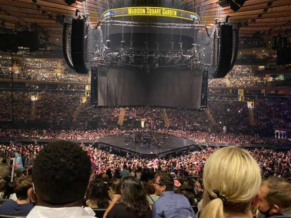 Madison Square Garden, section: 117, row: 22, seat: 12