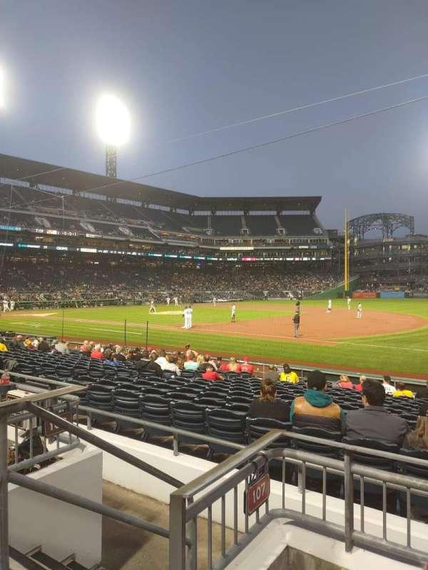 PNC Park, section: 107, row: C, seat: 13