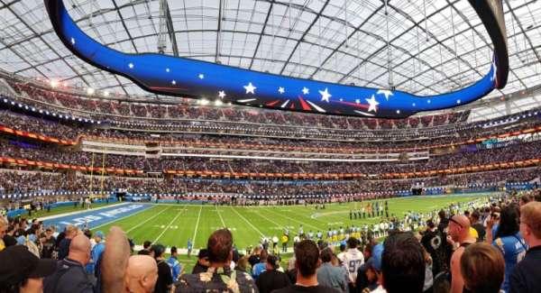 SoFi Stadium, section: C109, row: 12, seat: 11-14