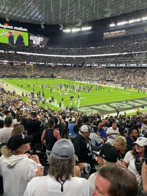 Allegiant Stadium, section: 105, row: 28, seat: 3