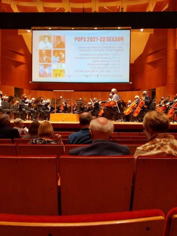 Joseph Meyerhoff Symphony Hall, section: Orchestra Center, row: H, seat: 111