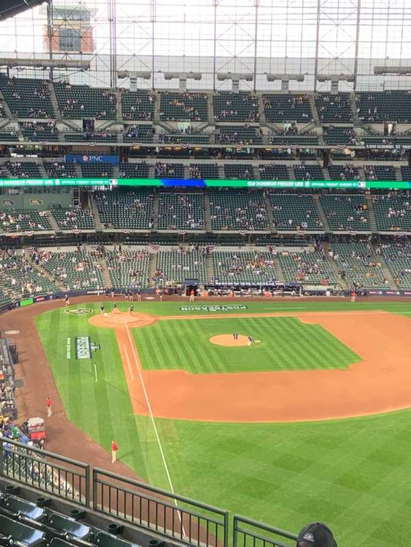 American Family Field, section: 405, row: 7, seat: 16