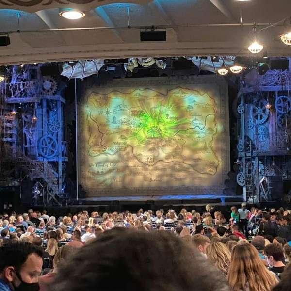 Apollo Victoria Theatre, section: Stalls, row: ZE, seat: 21