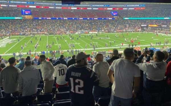 Gillette Stadium, section: 134, row: 37, seat: 11