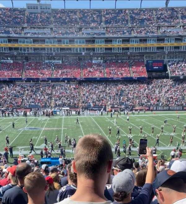 Gillette Stadium, section: 109, row: 34, seat: 9