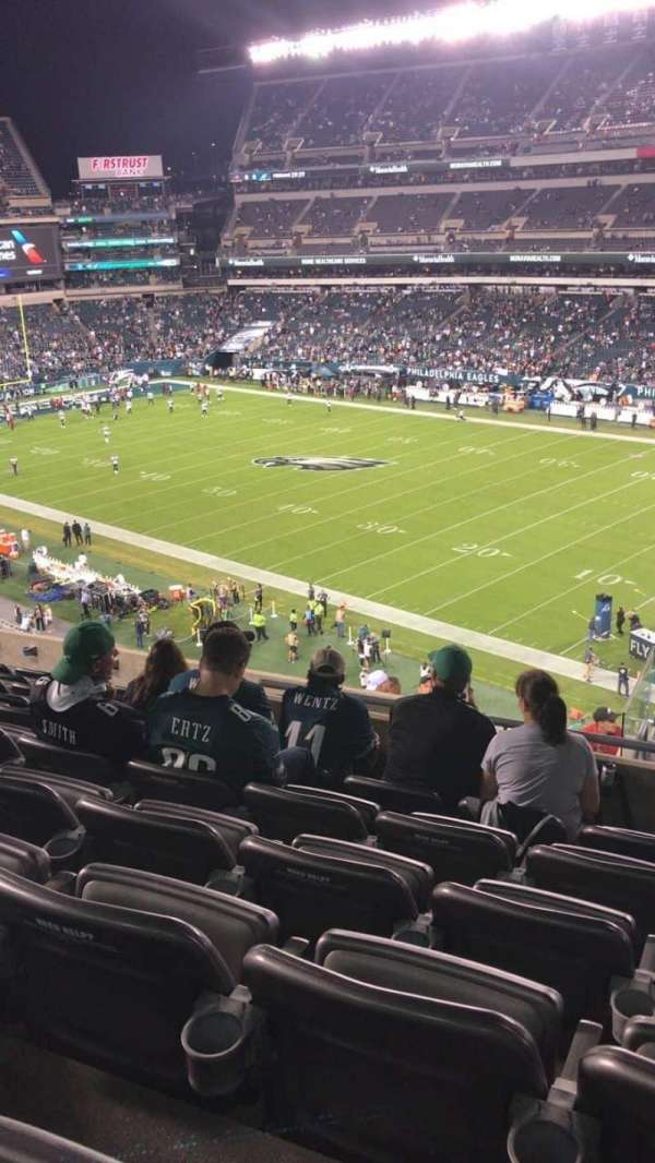 Lincoln Financial Field, section: C5, row: 15, seat: 1