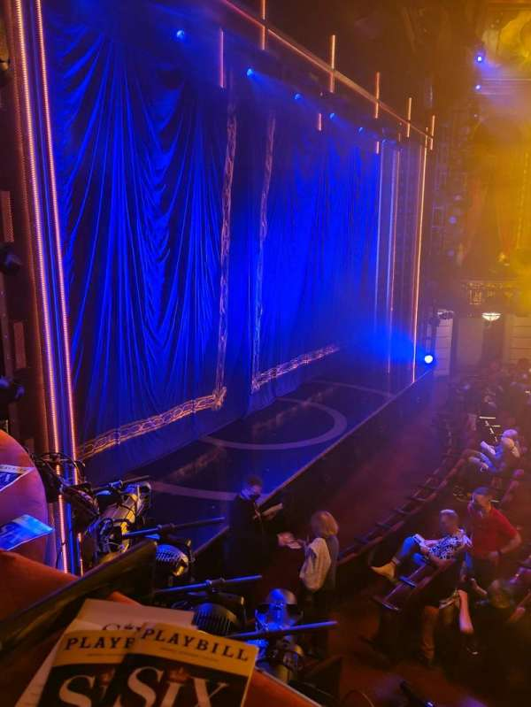 Brooks Atkinson Theatre, section: Left Box, row: B, seat: 1