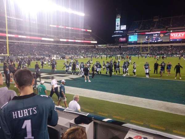 Lincoln Financial Field, section: 112, row: 2, seat: 5