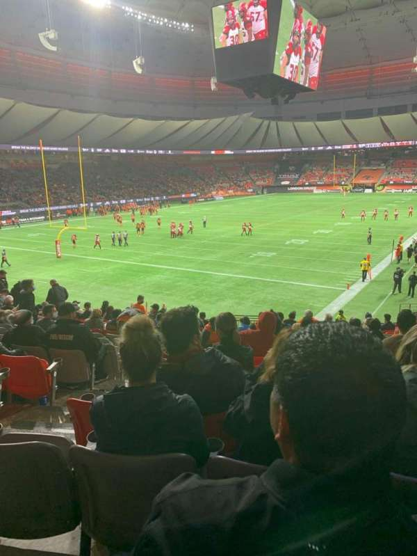 BC Place, section: 251, row: Aa, seat: 1