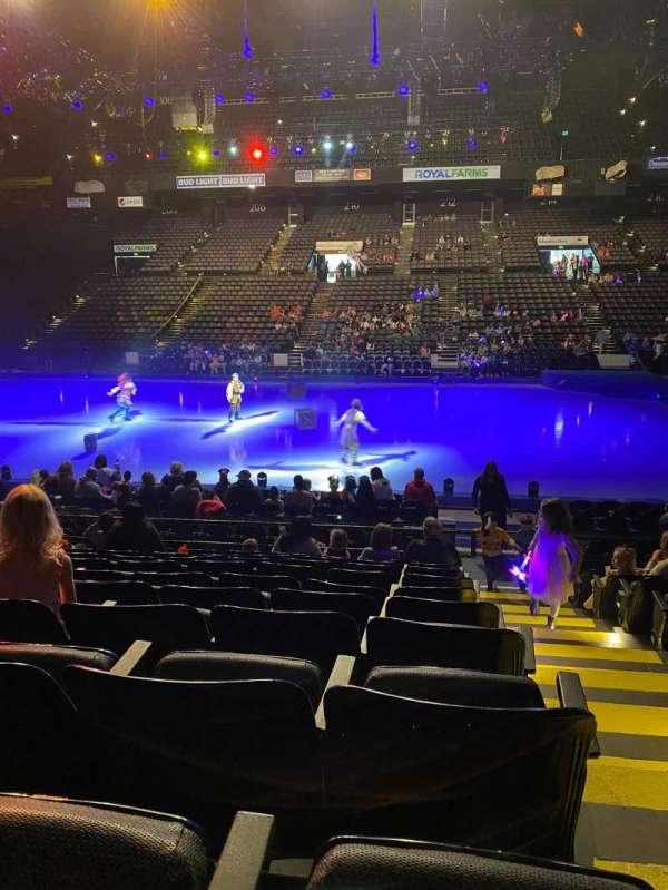 Royal Farms Arena, section: 109, row: K, seat: 1
