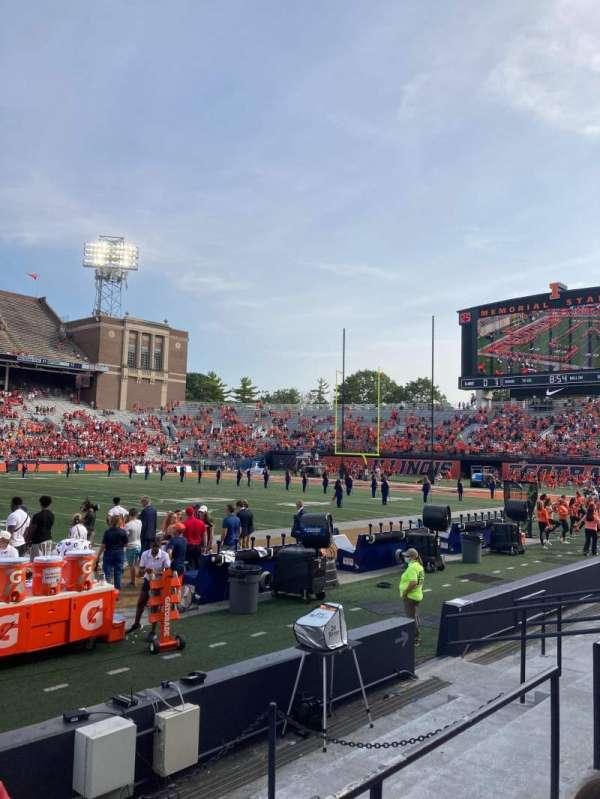 Memorial Stadium (Champaign), section: 127, row: 8, seat: 127