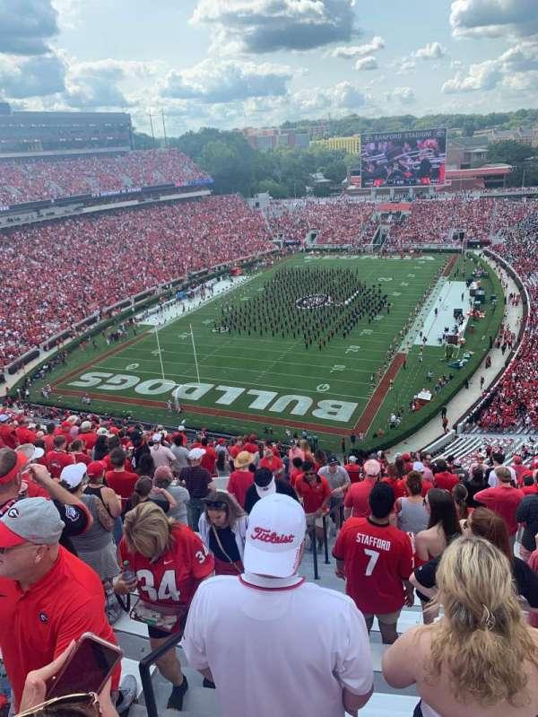 Sanford Stadium, section: 316, row: 20, seat: 30