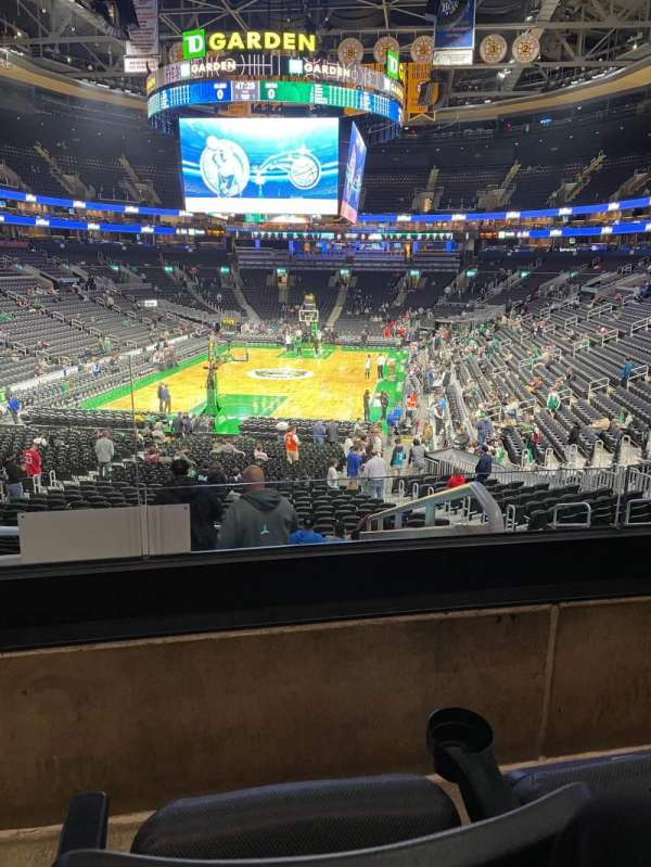 TD Garden, section: Loge 6, row: 23, seat: 14